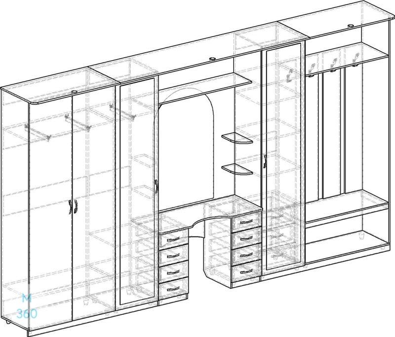 Распашной шкаф лофт на заказ Арт 11