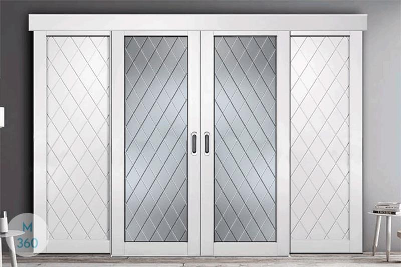 Раздвижная стеклянная дверь на заказ Арт 2