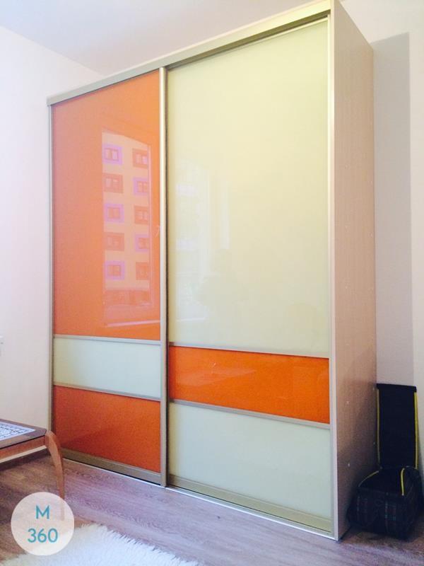 Оранжевый шкаф купе Папоротник Арт 000630167