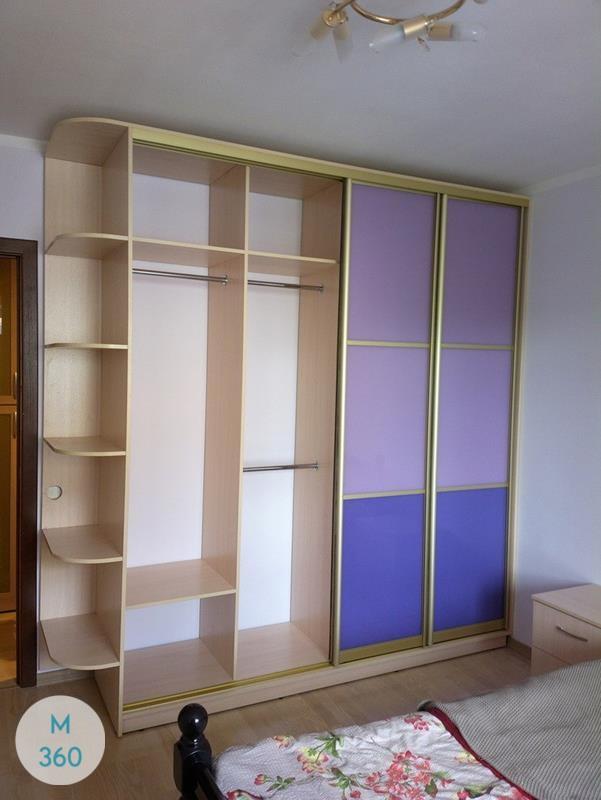 Фиолетовый шкаф купе Гавр Арт 001266429