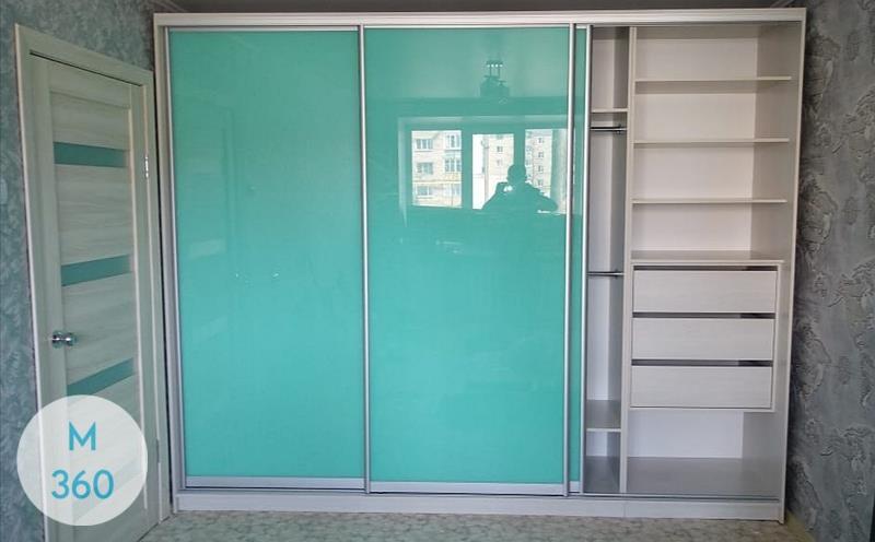 Зеленый шкаф купе Бейкерсфилд Арт 004592139
