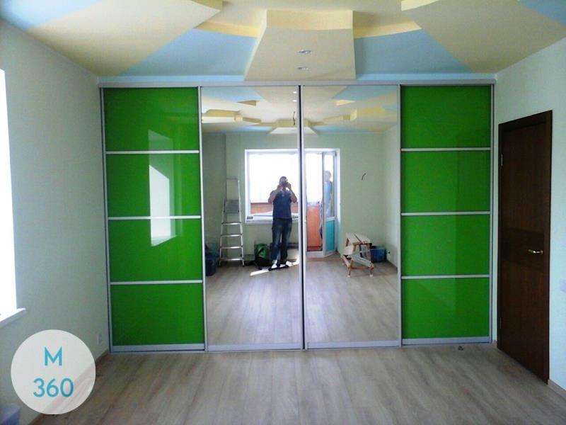 Зеленый шкаф купе Араука Арт 005590789