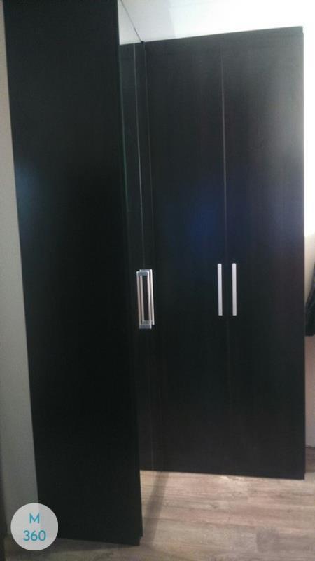 Черный распашной шкаф Рейн Арт 008863208