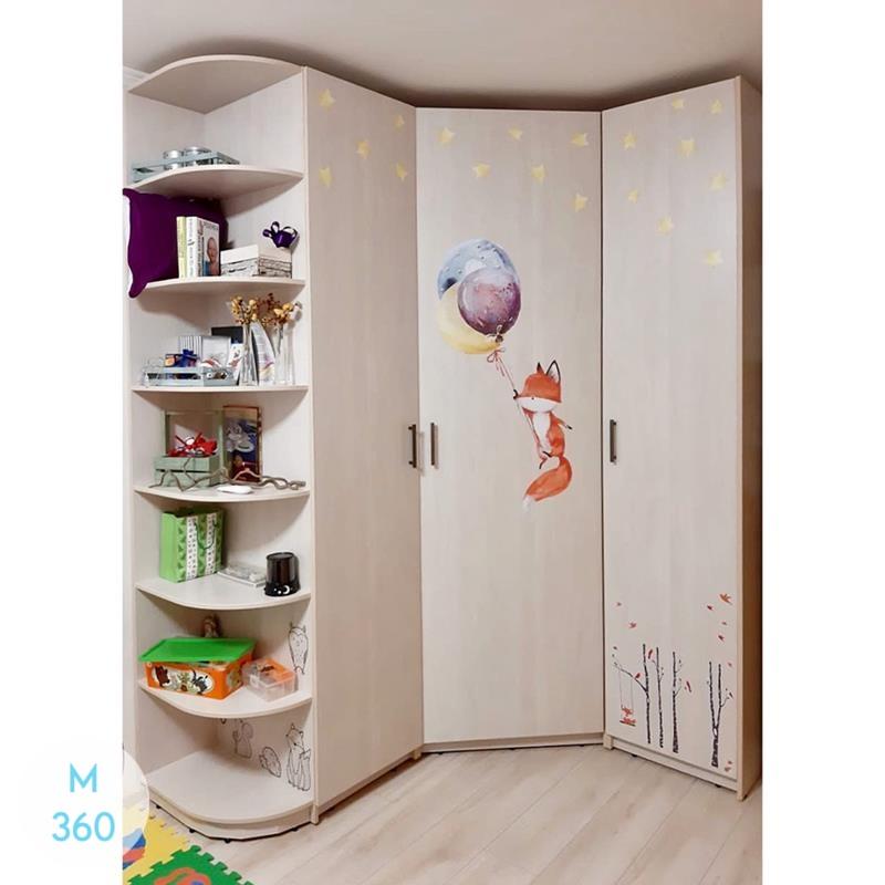 Угловой радиусный шкаф Уэст-Валли-Сити Арт 008970336